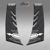 2 ADESIVI 3D PER CARENA T MAX COMPATIBILE TMAX 530 2012-16 BIANCO CARBON