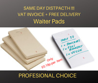 50/100/300 x Waiters Pads Numbered Order Tear Off Slip Restaurant Cafe Takeaway