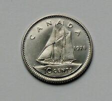 1976 CANADA Elizabeth II Coin - 10 Cents - AU++ toned-lustre
