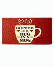 Novelty Vintage Polka Dot Cushioned Floor Mat Coffee Cup Kitchen Floor Mat