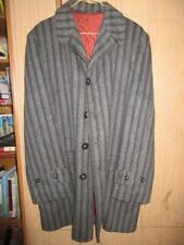 Vintage Men's Pipe'n Pouch Gray Wool Quilted Lined Car Coat Douthett & Graham