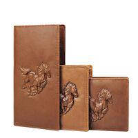 Mens Real Leather Bifold Wallets Credit Card Holder Front Pocket Long Wallet
