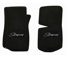 NEW! floor mats 1968-1982 C3 Corvette With Embroidered Stingray Logo in silver
