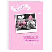 SISTER BIRTHDAY GREETING CARD - Funny, Humour, Joke, Real photo, Cute, Pink