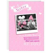SISTER BIRTHDAY GREETING CARD - Funny, Humour, Joke, Real photo, Cute, Pink