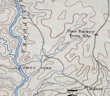 1891 Ashland Alabama Lineville Vintage 30-minute USGS Topographic Topo Map