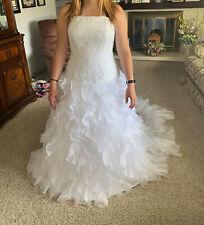 MONIQUE LUO-David's Bridal-Wedding Dress Size 12