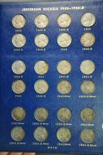 1938-1964 5c Jefferson Nickel Fully Completed Coin Album /B39