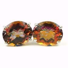 Twilight Fire Topaz , Post 925 Sterling Silver Earrings, SE202