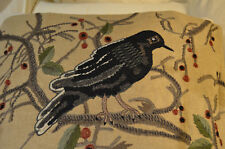 Pottery Barn ~Perched Crow~ Fall~ Lumbar Pillow Cover~ Bird~Rare Sold Out~New