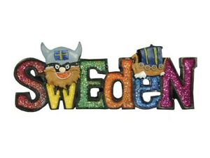 NWT Ola Nesje Sweden Magnet  with a Viking and a Vikingship 39018