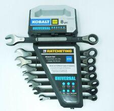NEW Kobalt Universal 8-Piece Standard Metric Ratchet Wrench Set