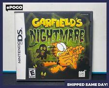 GARFIELD'S NIGHTMARE (Nintendo DS, DSi XL, 3DS) Video Game CIB AUTHENTIC MINT ✅