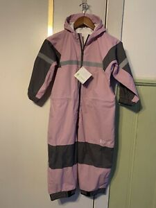 Oaki Youth Waterproof Rain Suit Lavender And Gray Size 6/7 NWT Hooded Protected