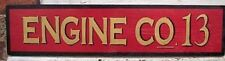 CUSTOM FIRE DEPARTMENT  ENGINE CO.   WOOD SIGN HAND PAINTED RUSTIC CUSTOMIZE