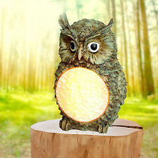 Solar Powered Owl Light Garden Led Statue Outdoor Pathway Home Lawn Yard Lamp US