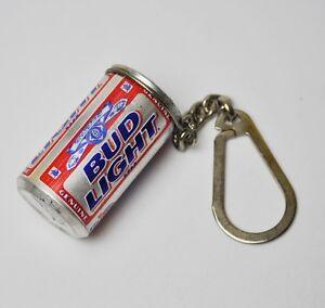 Anheuser Busch Budweiser Bud Light mini Dose Schlüsselanhänger Can Key Chain USA