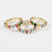 Men Women Luxury Zircon Stone Lover Fashion Wedding Gift Rings Bridal Jewelry
