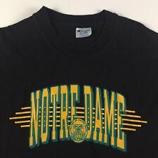 Vintage Champion Notre Dame T-Shirt Irish Made In USA Men's Size XXL 2XL Black