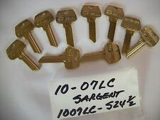 Locksmith LOT of 10 Key Blanks for SARGENT LC, 07LC, 1007LC, 5 Pin, Uncut