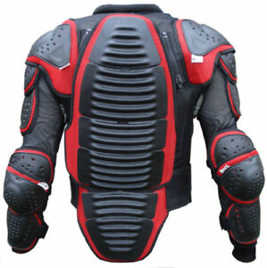 SPINE GUARD RED/BLACK CE BODY ARMOUR MENS MOTORBIKE/MOTORCYCLE PROTECTION JACKET