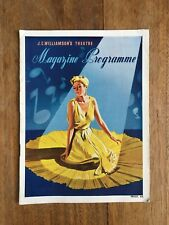 "VINTAGE 1941 J.C.WILLIAMSON ""THUMBS UP"" HIS MAJESTY'S THEATRE PROGRAMME #33"