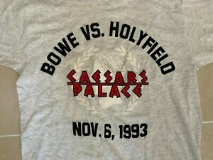 OFFICIAL CEASARS PALACE 1993 BOWE VS. HOLYFIELD SHIRT SIZE LARGE NEW NO TAGS!!!!