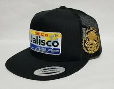 JALISCO  MEXICO  HAT MESH TRUCKER  BLACK    SNAP BACK ADJUSTABLE  NEW