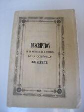 Description de la cathédrale de MILAN 1847