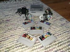 Super Nintendo SNES Console Bundle Inc. 5 Games VGC