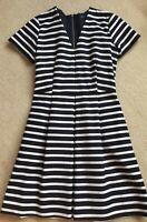 Gap Women's Nautical Blue/White Striped Dress Size 4