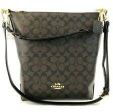 New Authentic Coach F31477 Abby Duffle Signature Handbag Purse Brown Black