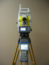"LEICA GEOMAX ZOOM80 CARLSON CR2 2"" PRISMRLESS ROBOTIC TOTAL STATION / SURVEYOR2"