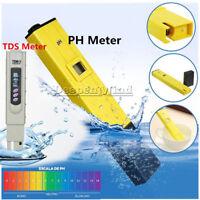 TDS Digital Tester+ Ph Meter Aquarium Pool Hydroponic Water Monitor 0-9999 PPM