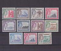 GAMBIA 1953, SG# 171-181, CV £47, ships, MNH