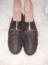 MINNETONKA 892 Classic Moccasins Shoes Genuine Moose Brown Men's US size 9