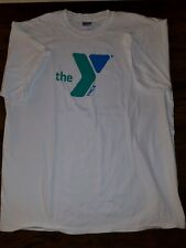 The YMCA Rare White T-Shirt Employee work camp style shirt XL