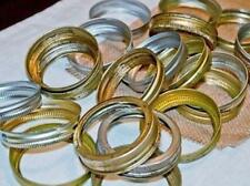 Lot Of 10 Wide Mouth Mason Jar Rings Bands For Crafting !Ships Free!