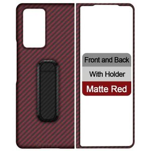 For Samsung Galaxy Z Fold 2 Real Luxury Carbon Fiber Ultra Thin Protect Case