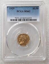 1929  - $2.50 Indian Gold Quarter Eagle - PCGS  MS62