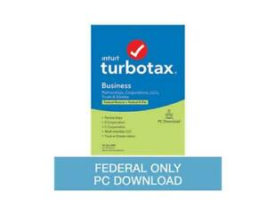 TurboTax Business 2020 Federal Return Only + Federal E-file