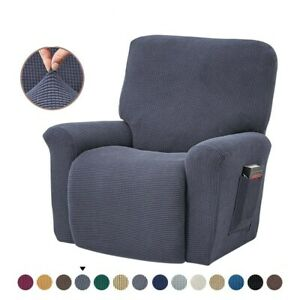 4Pcs Stretch Recliner Sofa Slipcover Durable Soft High Jacquard Furniture Cover
