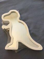 Unbranded Small Dinosaur Plastic Framed Mirror - White