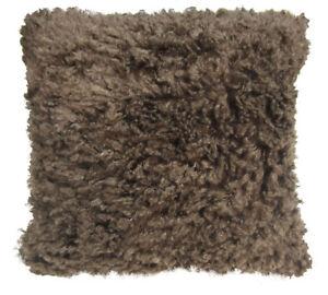 Fn622a Dark Brown Very Soft Faux Sheep Fur Pillow Case/Cushion Cover *Custom Siz