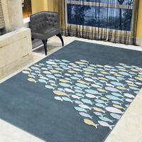 Contemporary Area Rug Fish Design Soft Modern Carpet Bedroom Entrance Floor Mat