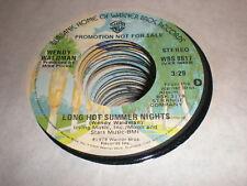 Wendy Waldman 45 Long Hot Summer Nights WARNER BROS PROMO