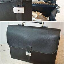 Cartable /porte documents/serviette en cuir maroquin grainé vintage 80's