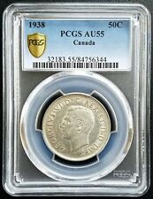 1938 Canada Silver 50 Cents Half Dollar PCGS AU55 About Unc 50C Classic Coin