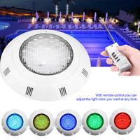 LAMPADA FARO LED PAR RGB 24 LED PER PISCINA POOL 12V 24W LUCE CON TELECOMANDO