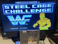 🔥100% WORKING NINTENDO NES SUPER FUN Game Cartridge WWF STEEL CAGE CHALLENGE